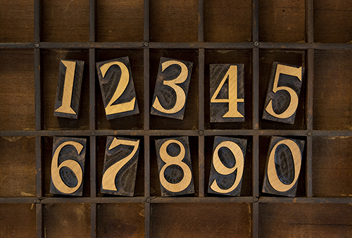 Regardless if you want to count the Arabic numbers in English and reverse, first you have to see their correspondent. Check out this Arabic numbers list