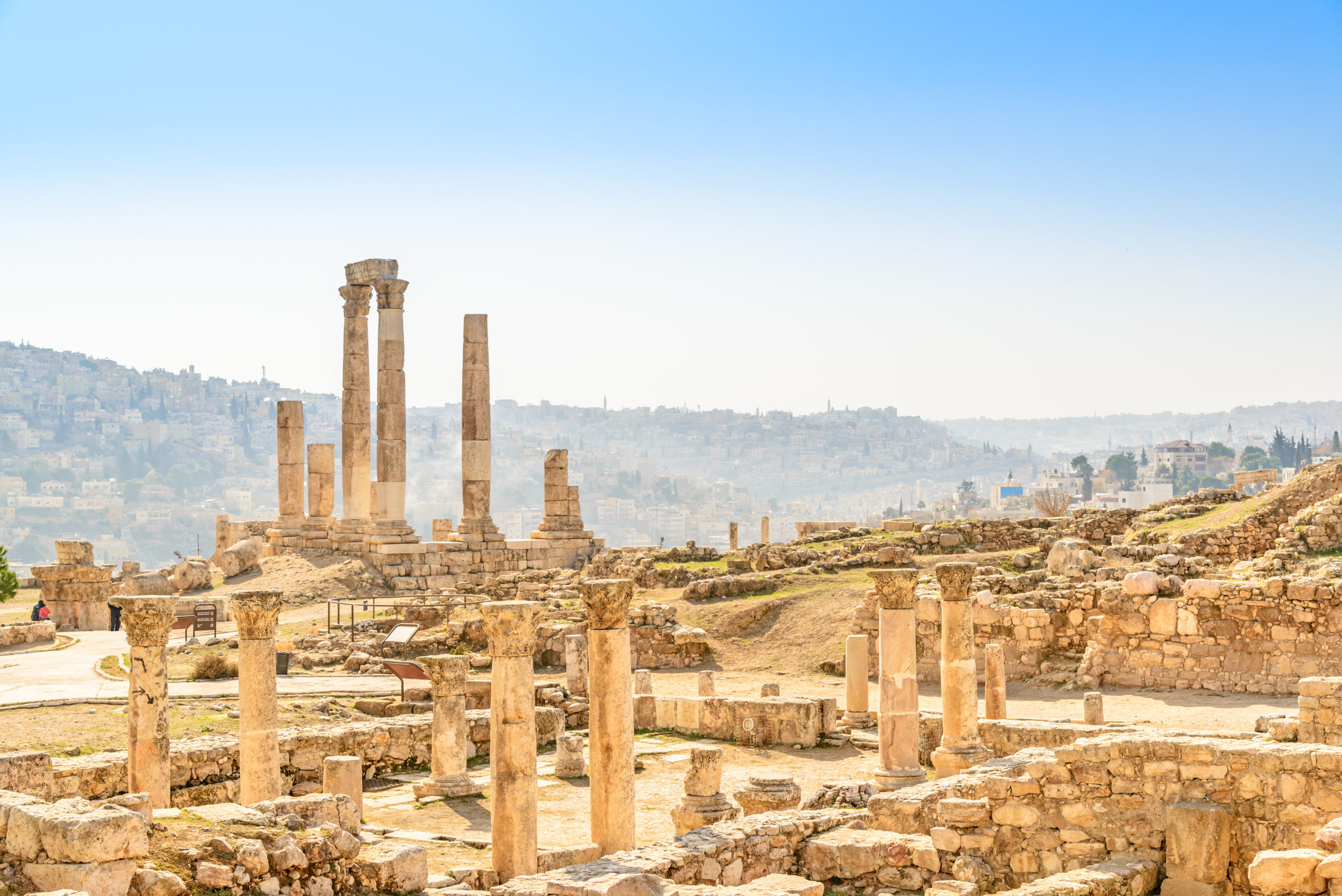 Climb the highest hill in Amman with us and enjoy the rich history and spectacular views from the Citadel. It is a view you don't want to miss